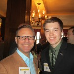 Paul Batz '85 with junior Brian Simons '14