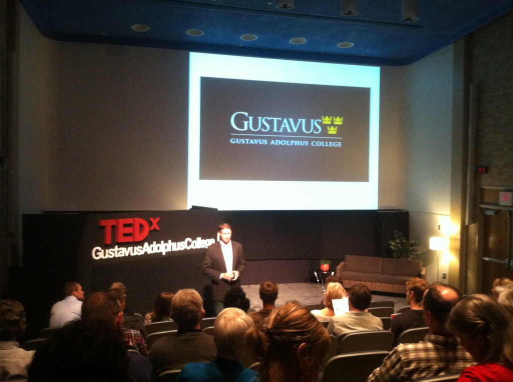 The first Gustavus TEDx event in Nobel Hall