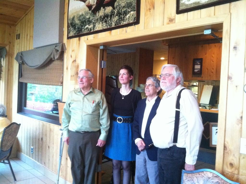 Glenn, Kristina, Tim & David at Whiskey River