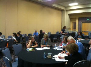Group discussion at the evidence workshop