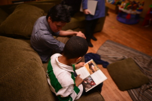 Helping a shelter resident learn to love reading